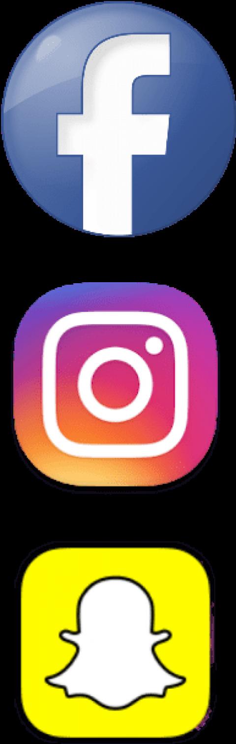 Free Png Download Facebook Instagram Snapchat Logo Instagram And Snapchat Png Transparent Png Snapchat Icon Png Transparent Png Download 504183 Pngfind