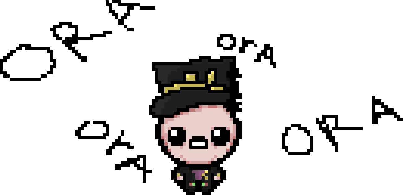 Jotaro Kujo Binding Of Isaac Rebirth Personnage Hd Png Download Jotaro Png Transparent Png Download 797507 Pngfind