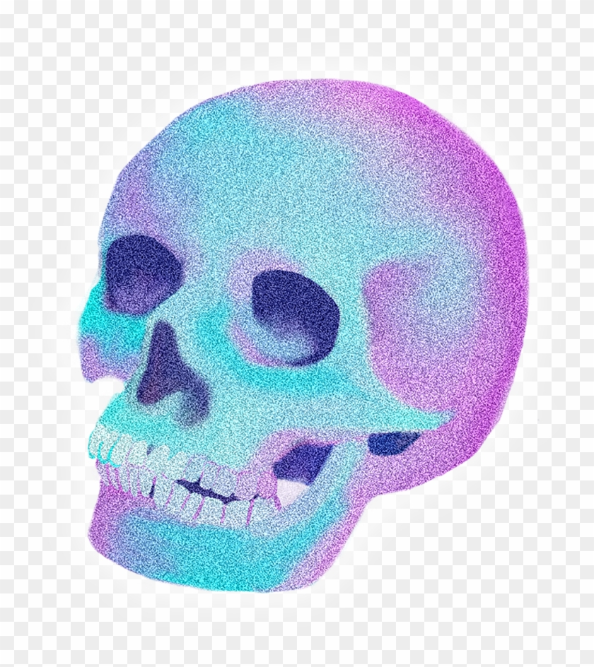 Neon Skull Png , Png Download, Transparent Png - 983x1059