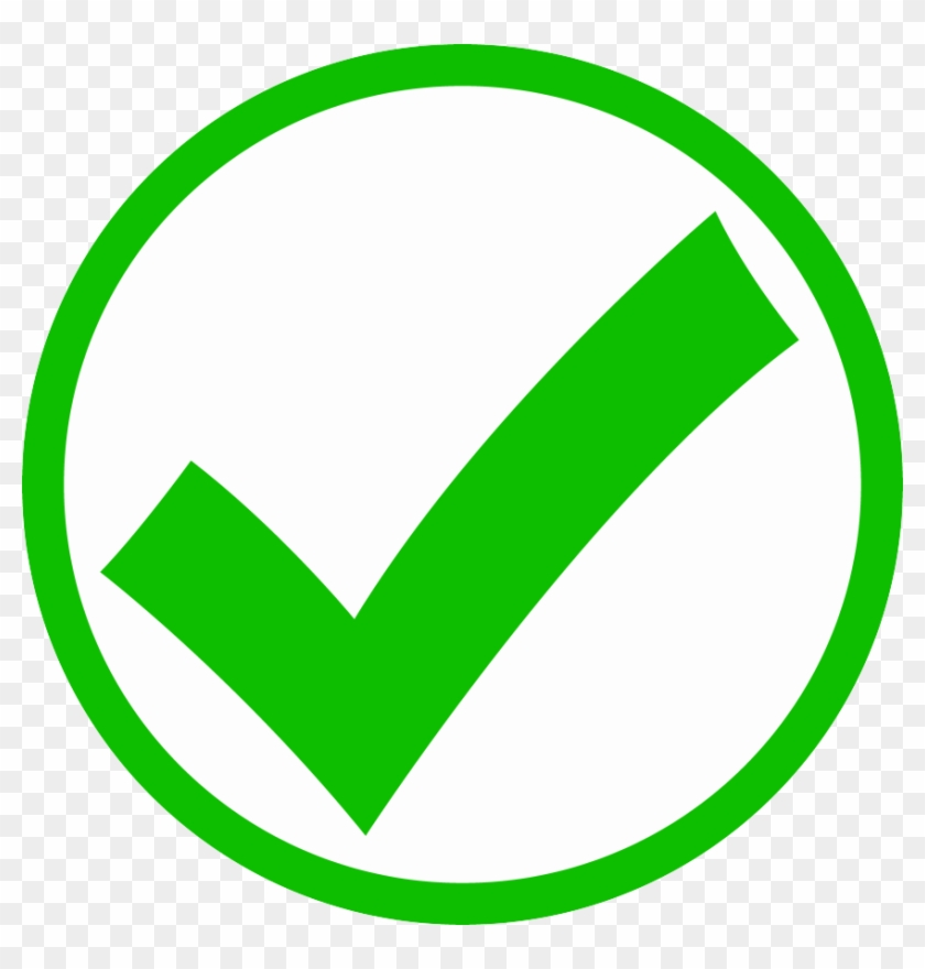Image Checkmark - Green Check Mark Circle, HD Png Download