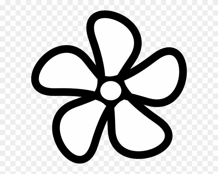 Flower outline white. Png flowers clipart black