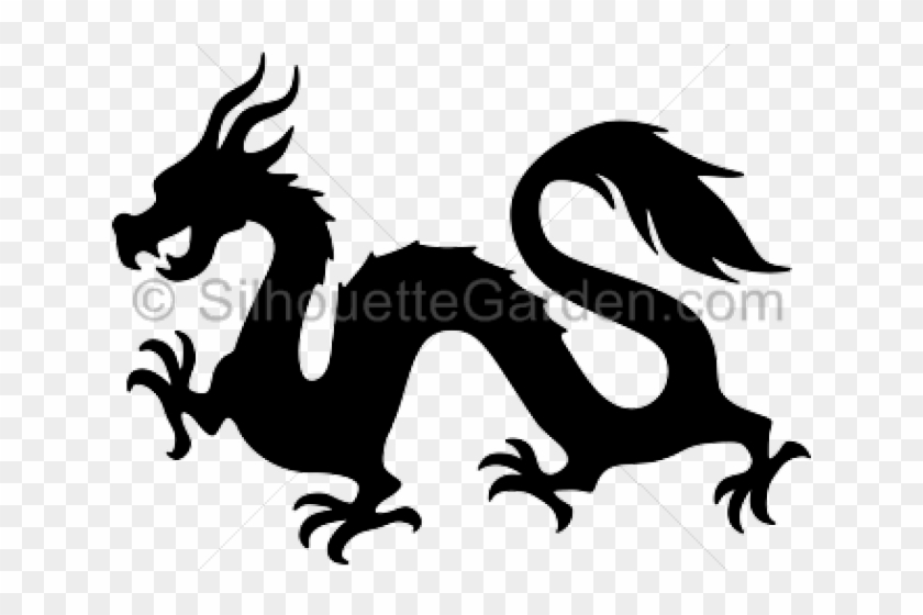 Dragon easy. Simple chinese silhouette png