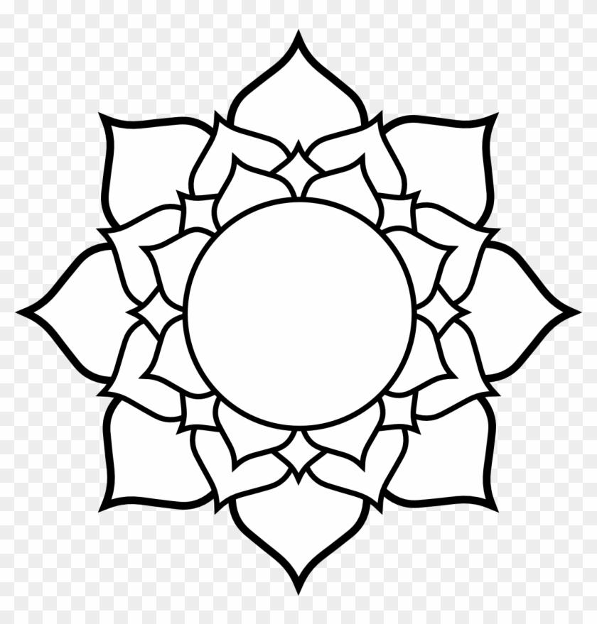 Lotus Flower Line Drawing Lotus Flower Hinduism Symbol Hd Png