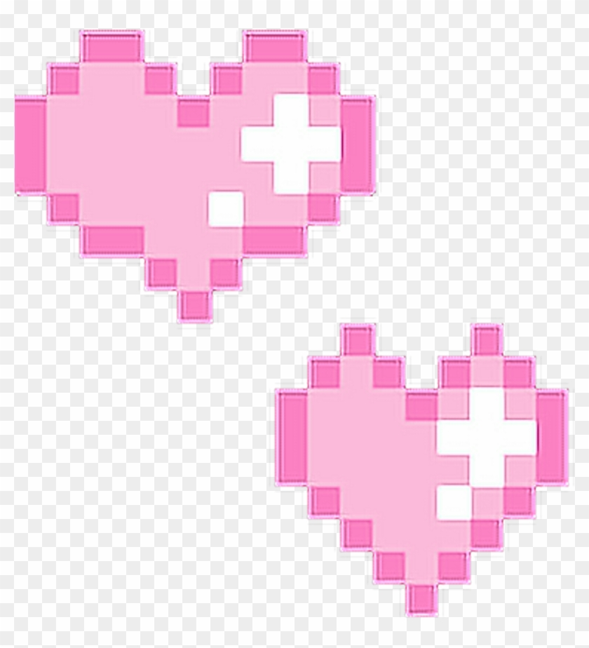 Hearts Pink Pixel Pixels Tumblr Cute Lovely Love Pixel Heart Gif Hd Png Download 1024x1024 7200 Pngfind