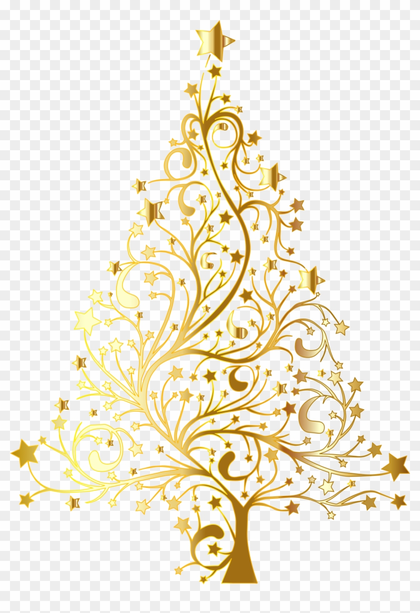 Gold Christmas Png Gold Christmas Tree Vector Png Transparent Png