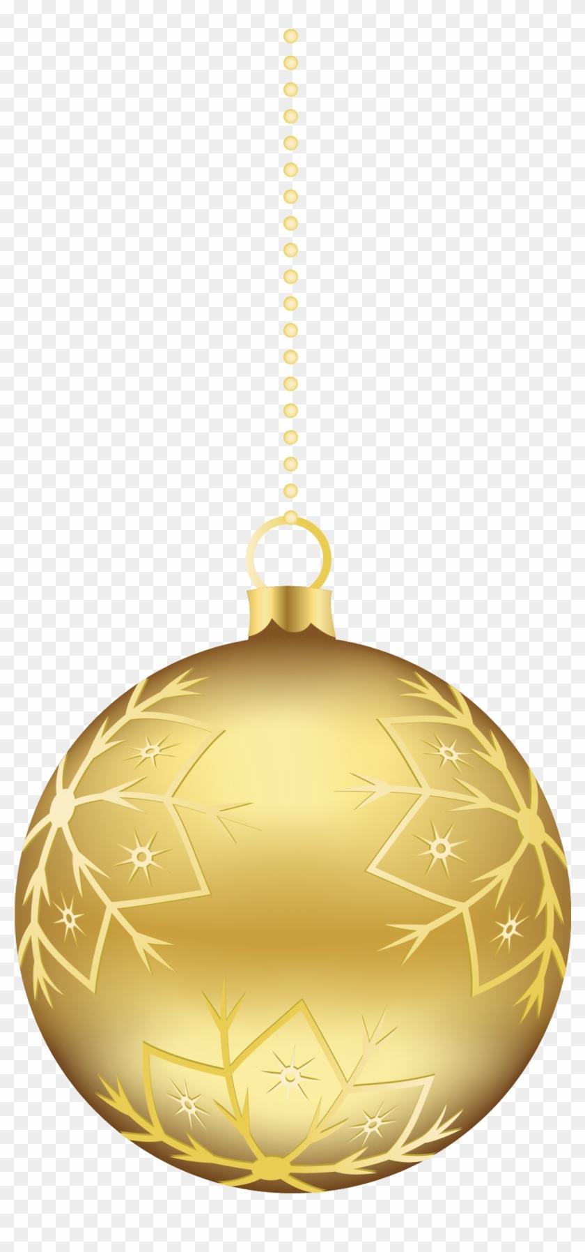Gold Christmas Ornaments Hanging Gold Christmas Balls Hd Png