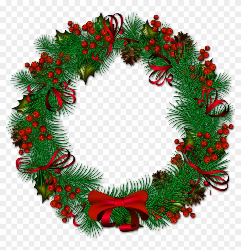 Christmas wreath reef. Transparent png background