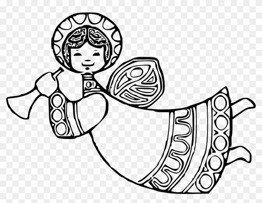 Christmas Angels Clipart.Christmas Coloring Pages Angels 2 With How To Draw