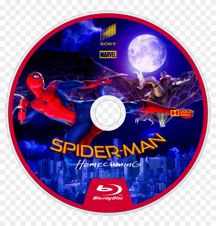 Homecoming Bluray Disc Image - Spider Man Homecoming Movie