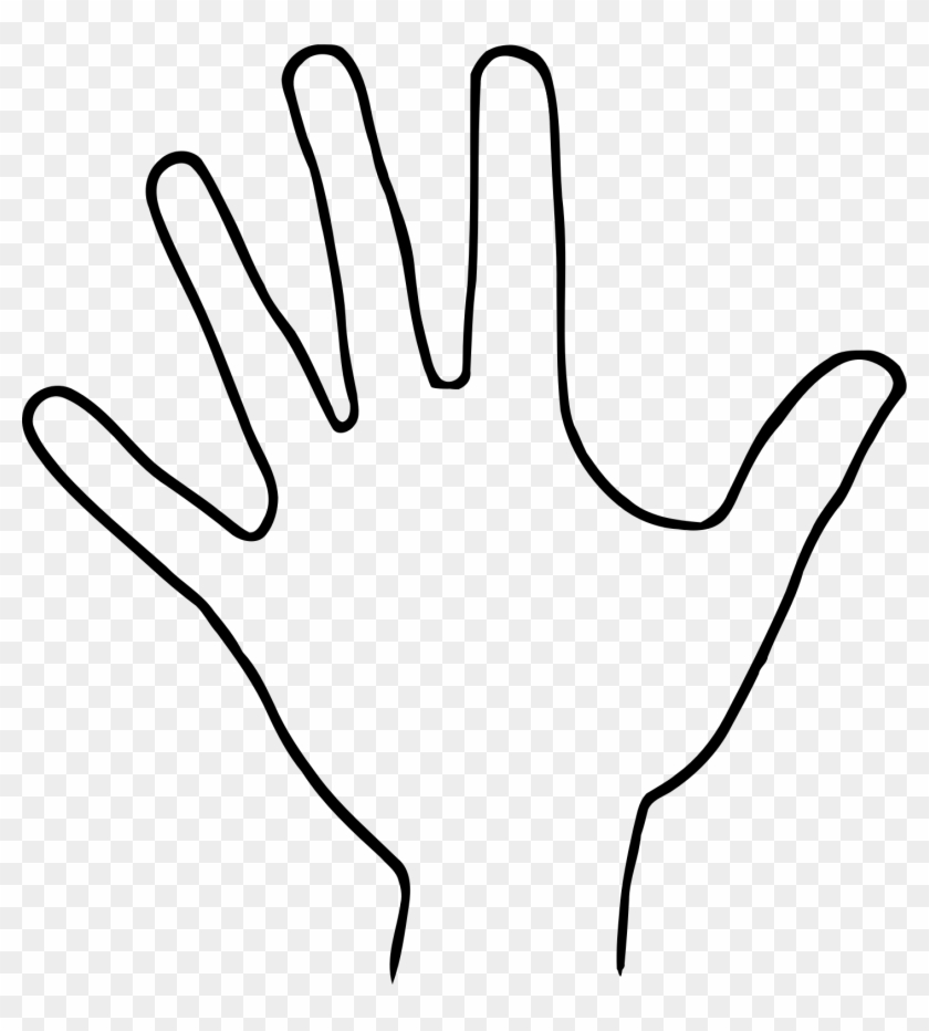 1448 X 1539 37 - Hand Clipart Black And White Png, Transparent Png