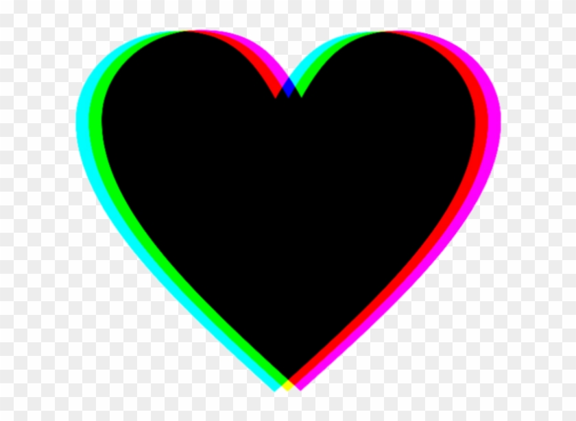Sticker Heart Black Tumblr Hearts Coracao Icon Png - Png