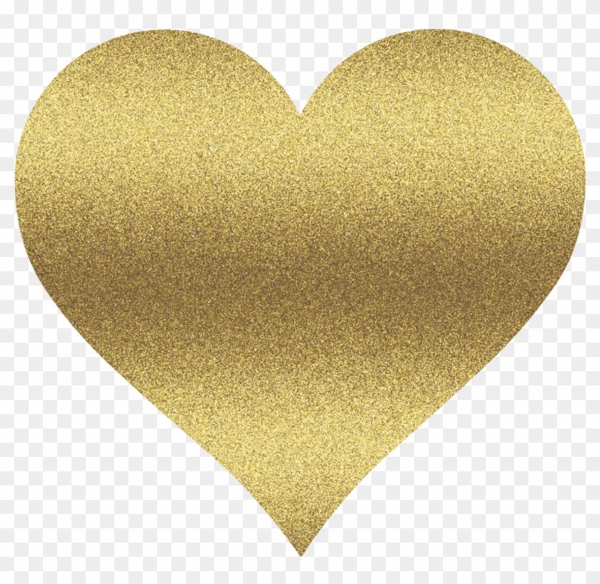 Heart glitter. Clipart gold hd png