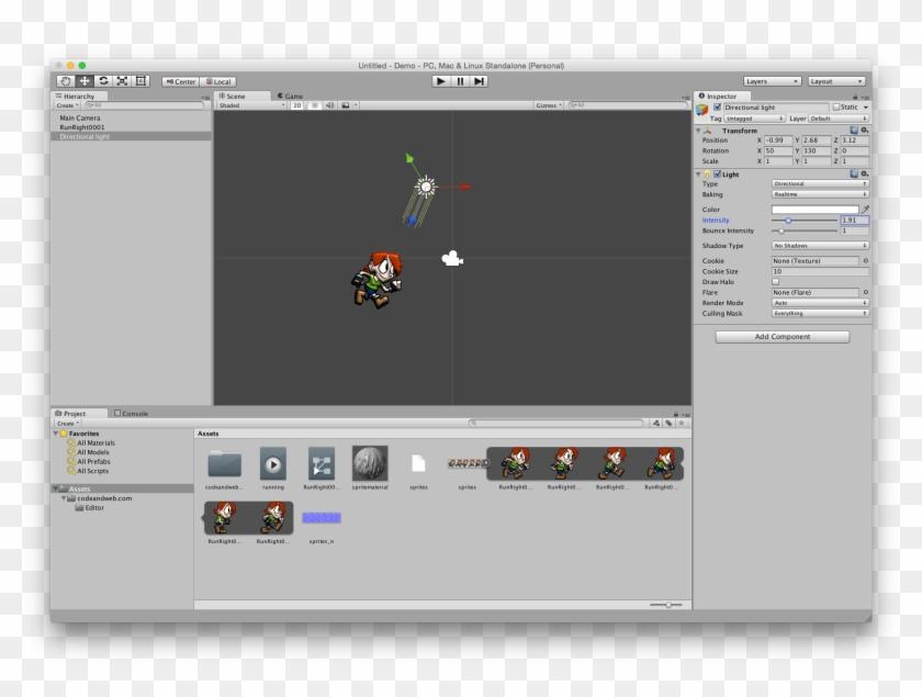Adding A Light - Unity Visual Studio 2d, HD Png Download - 1518x1078