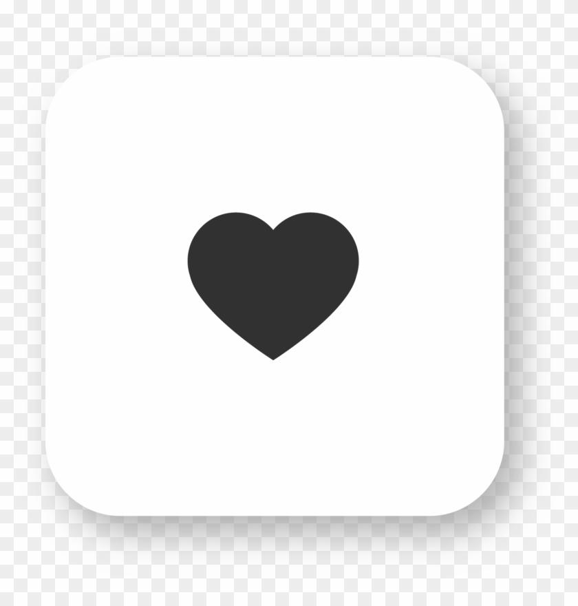 Instagram Heart, White, Square Transparent Background