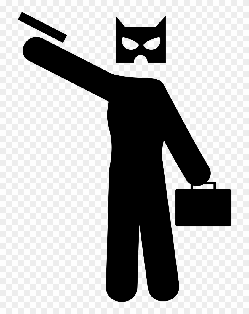 Bank Robbery Svg Png Icon Free Download - Robber Vector