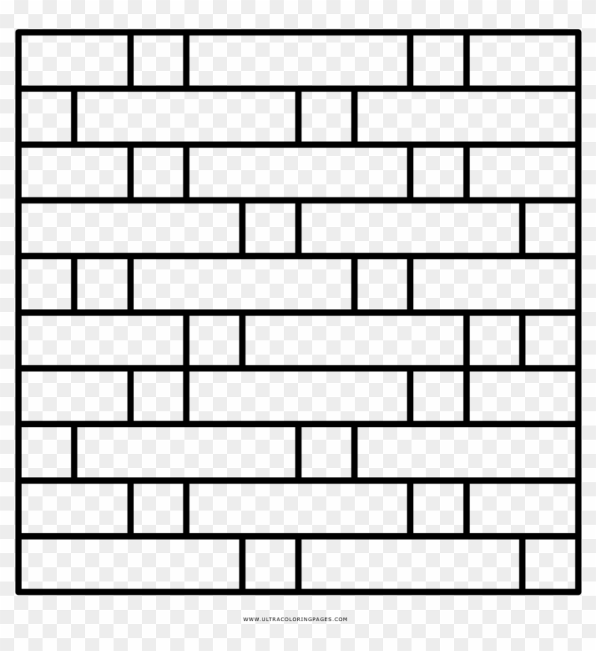 Brick Wall Coloring Page Pared De Ladrillo Para Colorear