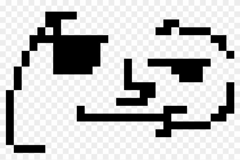 Lenny Face - Dibujos Cuadriculados De Emojis, HD Png Download ...