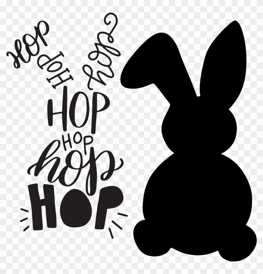 Easter bunny silhouette. Png graphic library stock