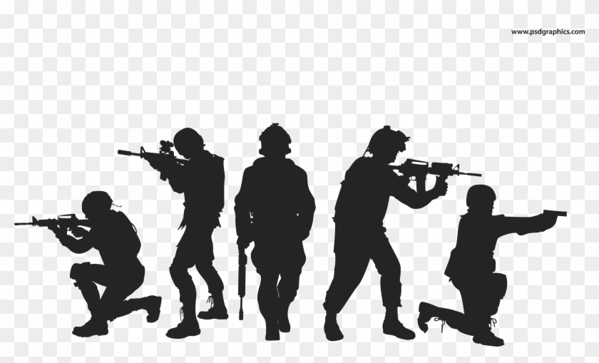 Soldier Free Png Image - Soldier Silhouette Png, Transparent Png