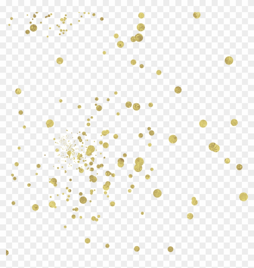 Gold Confetti Overlay - Illustration, HD Png Download