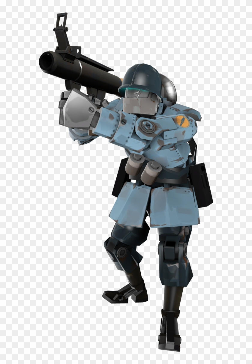 Clip Art Royalty Free Drawing Robots Soldier - Tf2 Robot Soldier, HD