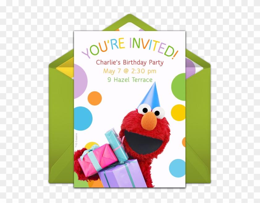 Elmo Party Hat Online Invitation