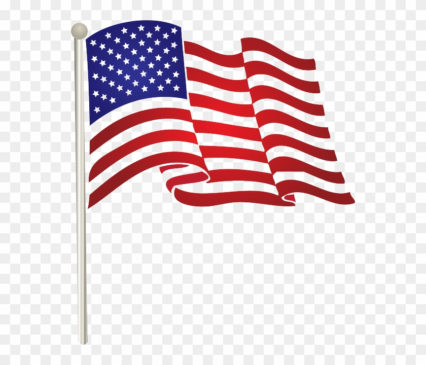 4th of july flag. Free american clip art