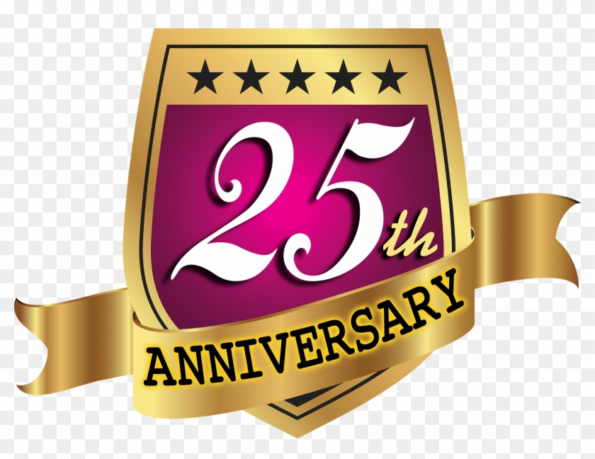25th anniversary png celebrating th year anniversary vector logo template - an