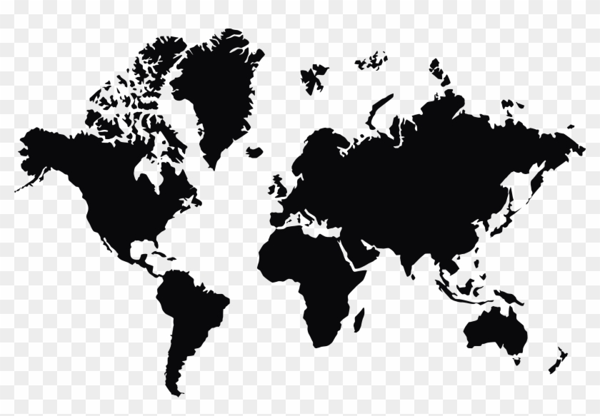 World Map Png World Map Vector Black And White Transparent Png
