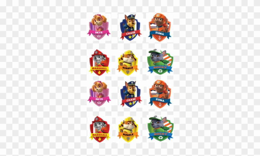picture about Printable Characters referred to as People Cupcake - No cost Printable Paw Patrol Figures