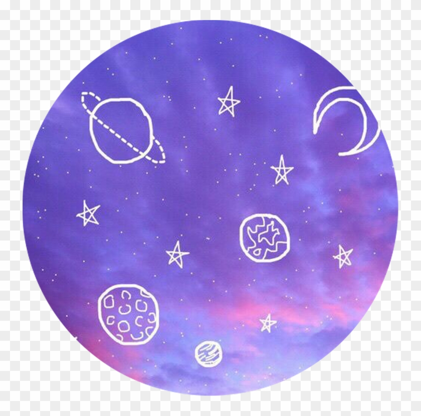 Galaxy aesthetic. Purple hd png download