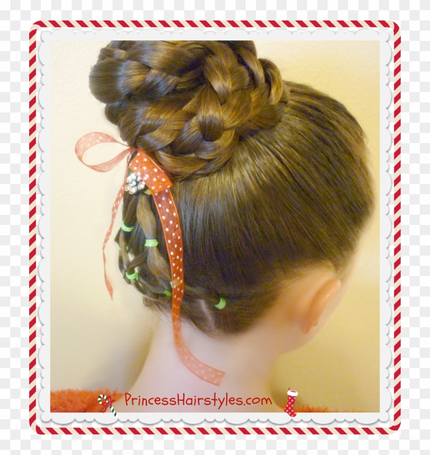 Christmas Hairstyles Easy.Easy Christmas Tree Hairstyle Tutorial Girls Christmas