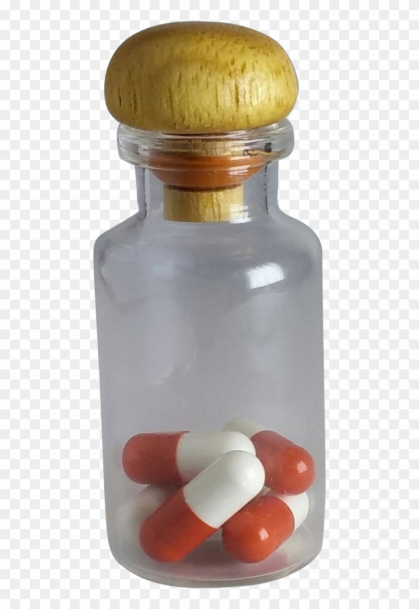 Pills In A Bottle Png Image - Glass Bottle, Transparent Png