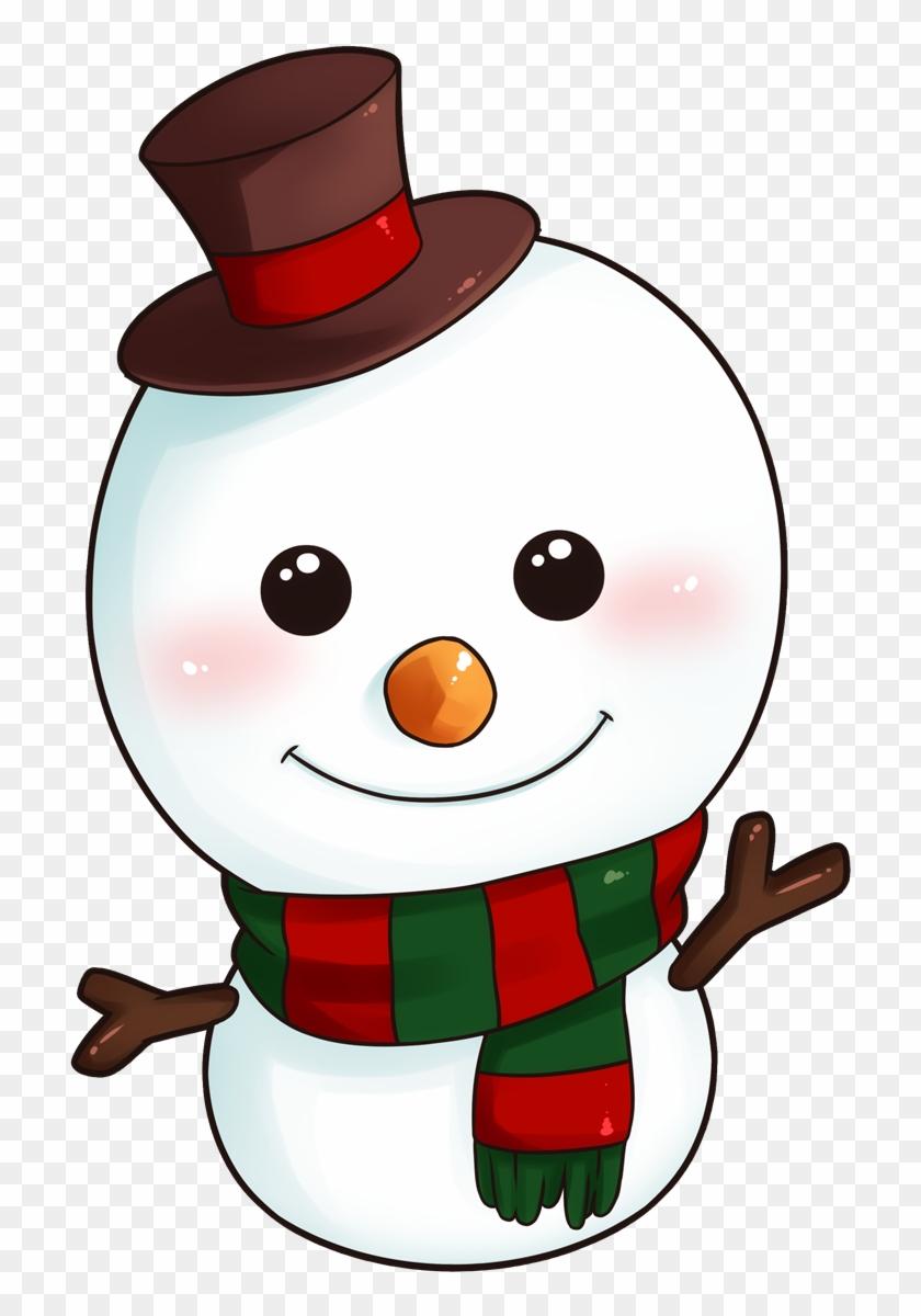Snowman cartoon. Christmas clipart cute hd