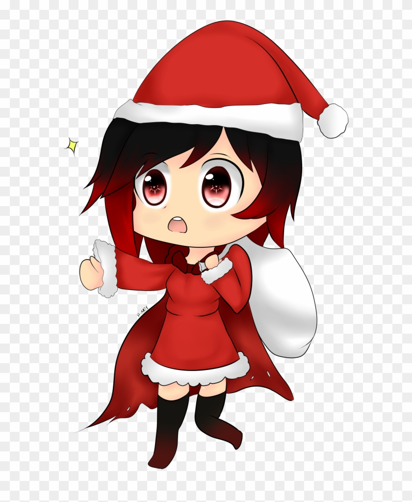 Rwby Christmas.Rwby Chibi Christmas Rwby Chibi Hd Png Download 583x943