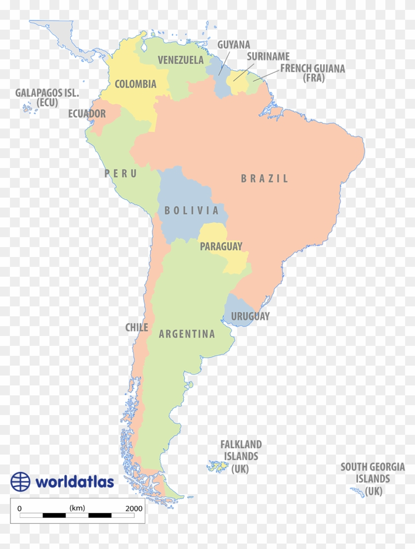 Political Map Of South America - Latin America Urban Centers, HD Png ...