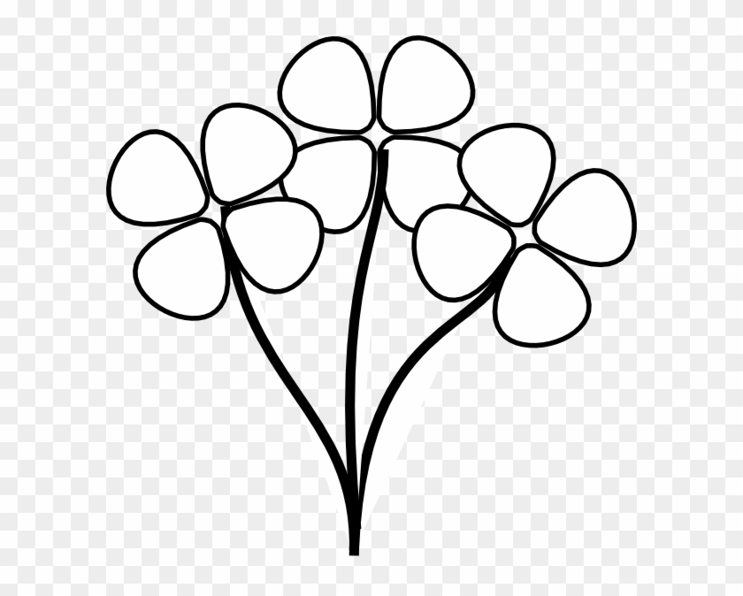 Flower black and white cartoon. Vector transparent download stems