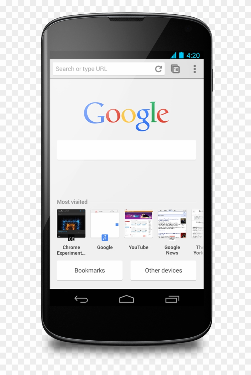 Chrome Beta Ntp Android - Chrome En Android 4, HD Png Download