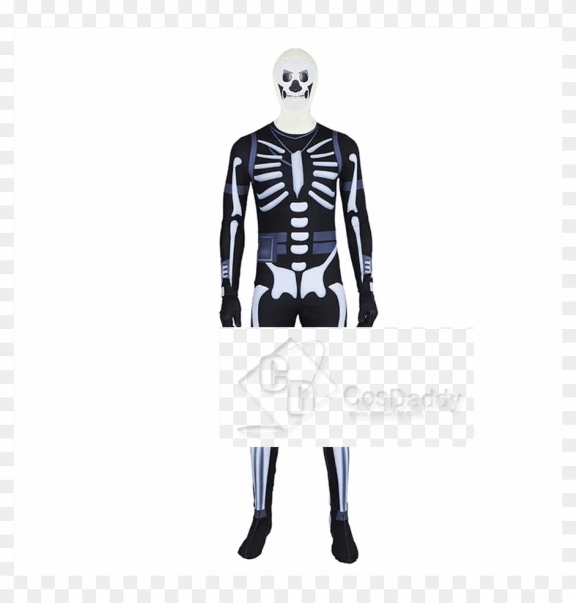 Fortnite Skull Trooper Costume, HD Png Download - 1000x1300