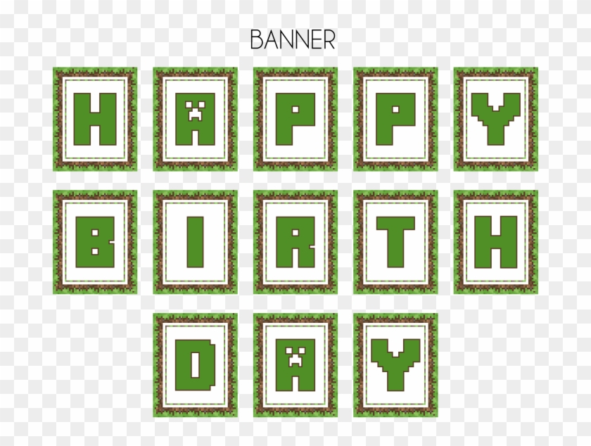 picture regarding Minecraft Birthday Banner Free Printable referred to as Minecraft Satisfied Birthday Banner Printable Free of charge, High definition Png