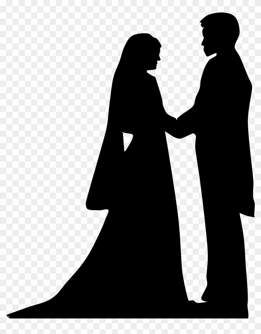 Holding hands siluet wedding couple muslim hd png
