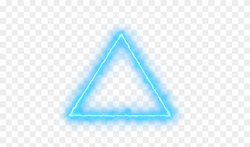 Blue Triangle Neon Lights Png Neon Effect Light Png
