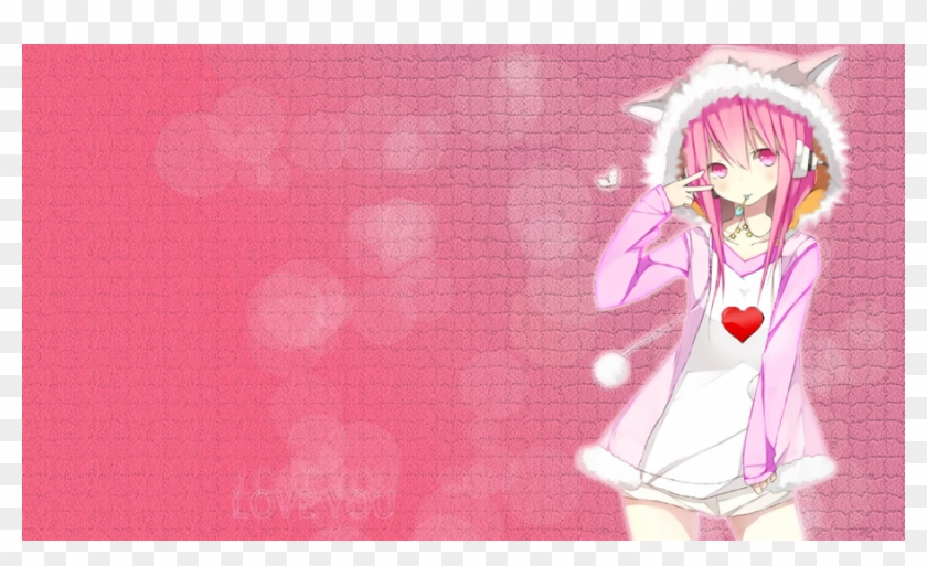 Girls Wallpapers Hd Pictures Cute Anime Girl Pink Hd Png Download 900x507 1101248 Pngfind