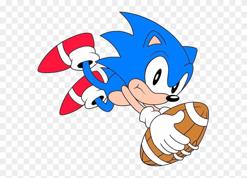 Classic Sonic Football Classic Sonic Hd Png Download 583x527