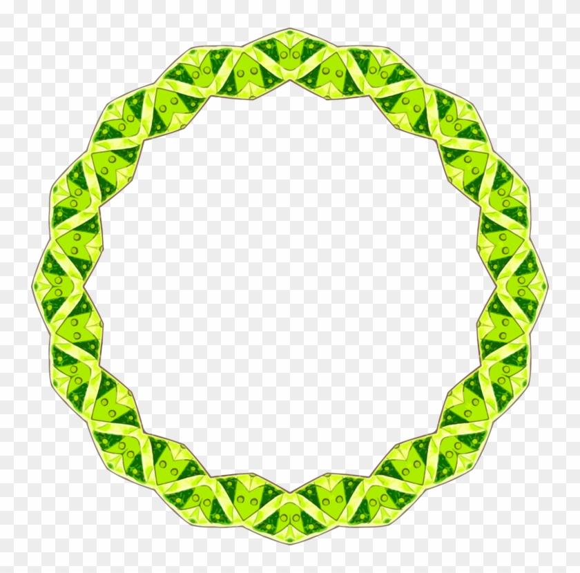 Color Wheel Green Yellow Blue - Clip Art Circle Color Border