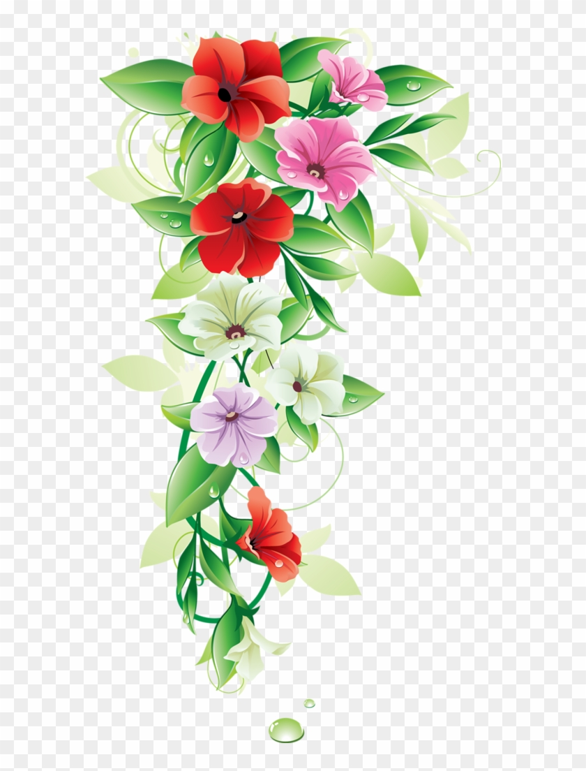 7dcf16679c82 Flower Border Vector Png Transparent Png 596x1024