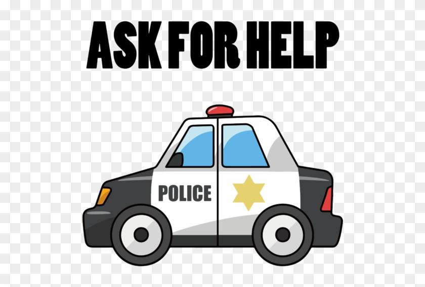 Ask For Help Police Carro De Policia Desenho Hd Png Download