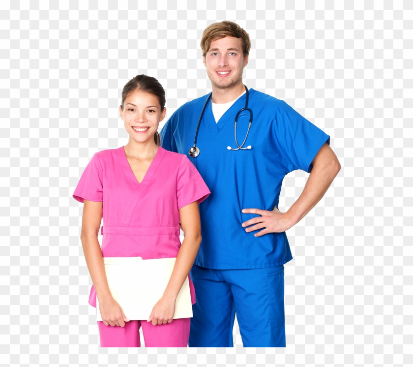 Nursing Png Male And Female Nurse Png Transparent Png 582x686 1138432 Pngfind