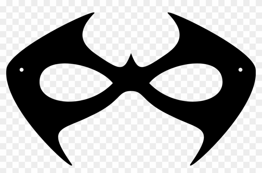 picture about Printable Ghost Pattern identified as Printable Halloween Masks - Nightwing Mask Template