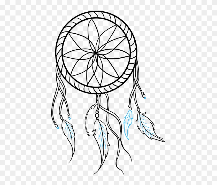 Simple Dream Catcher Drawing Hd Png Download 680x678